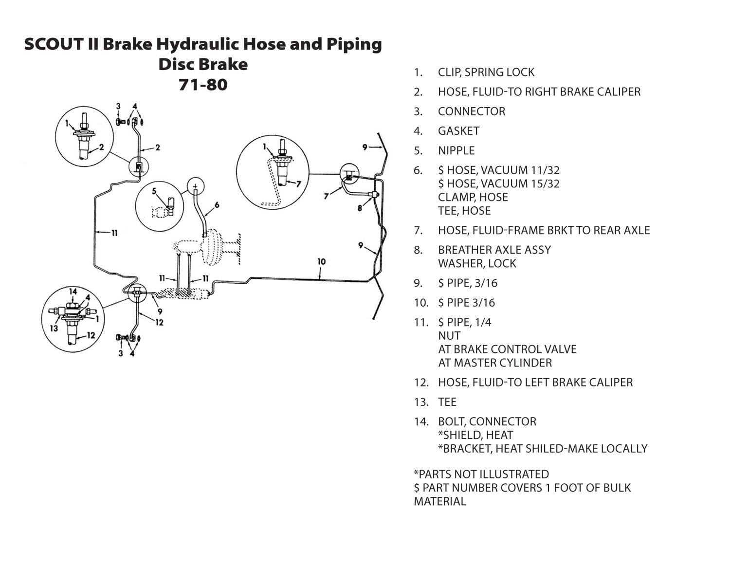 scout connections brakes page  international scout 80 brake shoe diagram #1