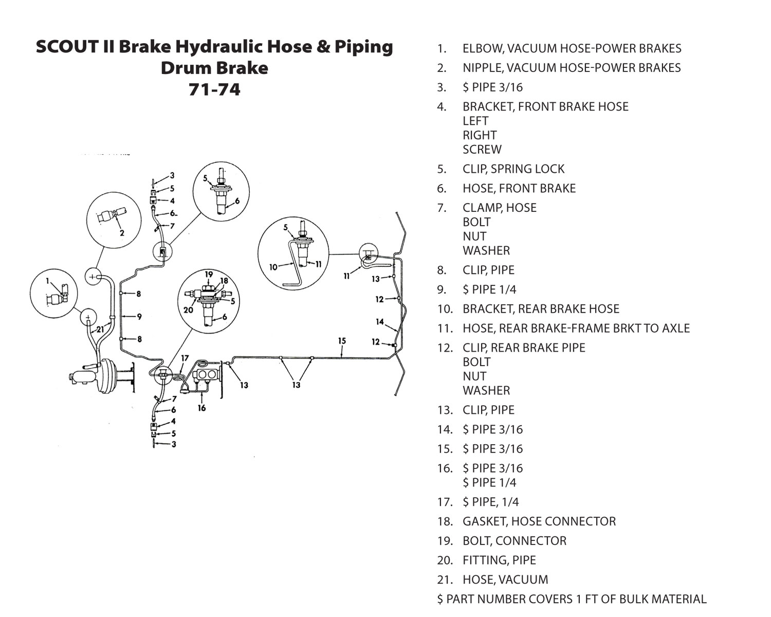 scout connections brakes page  international scout 80 brake shoe diagram #5