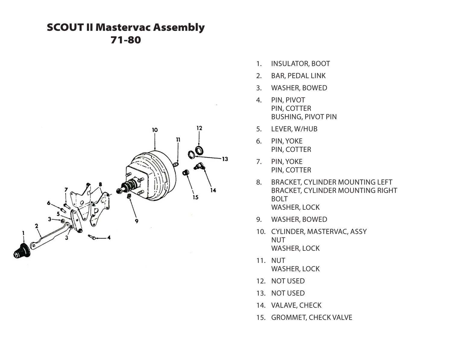 scout connections brakes page  international scout 80 brake shoe diagram #10