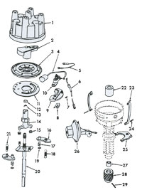 distributor 71 74 4 cylinder scout connection electrical system page international scout ignition wiring diagram at soozxer.org