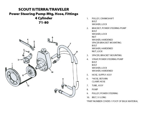 Power Steering Pump Mtg Hose Fittings Cylinder With Part Names on Chevy Power Steering Pressure Switch